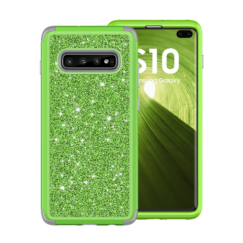 Luxury Glitter Bling Crystal Diamond Hard Back Cover For <font><b>Samsung</b></font> s9 s10 Plus note9 note8 <font><b>360</b></font> Degree Shockproof Hybrid Armor <font><b>Case</b></font> image