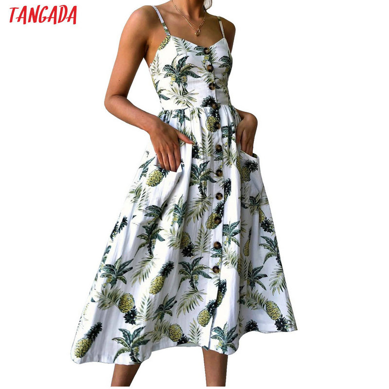 Summer Women Dress 2018 Vintage Sexy Bohemian Flor...