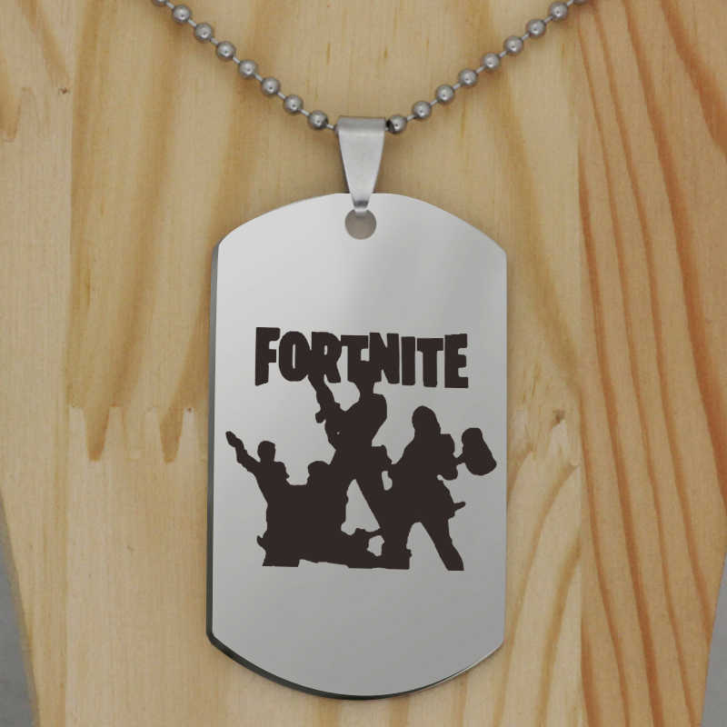 FPS Game laser printing pendant Fortnite pendant stainless steel jewelry necklace Customed words or name necklace N450