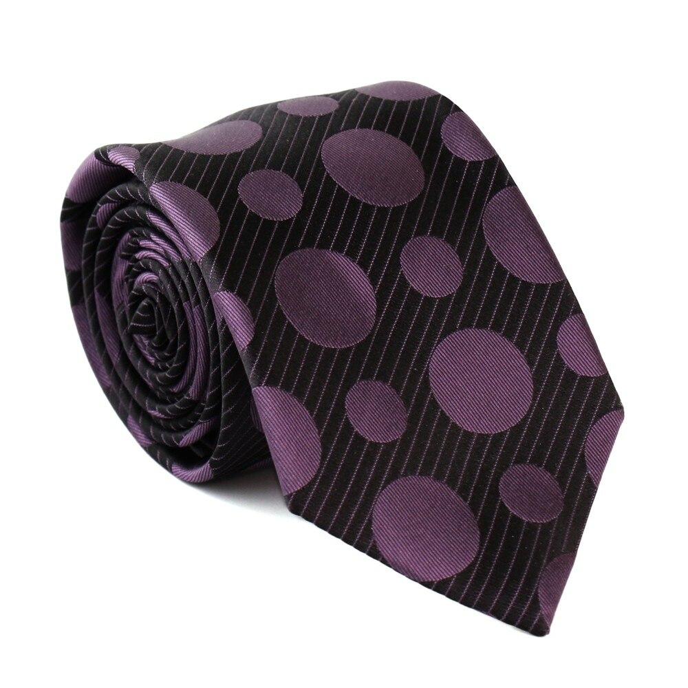 Tie Cufflinks Pocket Square Set Purple White Polka Dot Handmade 100/% Silk Hanky