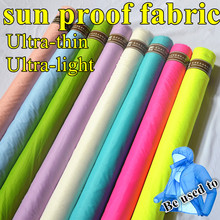1.5*1m Ultra-thin and Super light sunscreen 15D Nylon Taffeta Fabric For Clothing Transparent Down Jacket Lycra DIY Sewing