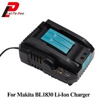 For Makita DC18RCT 7.2V 14.4V 18V Li ion Battery Charger 4A Charging Current For BL1830 BL1430 DC18RC DC18RA Power Tool Batteria