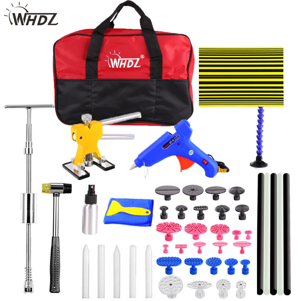 Здесь можно купить  WHDZ PDR Dent Removal repair tools high quanlity silder hammer Reflector Board Dent Puller Dent Lifter Glue Tabs Suction Cup kit  Инструменты