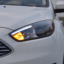 Car Styling Head Lamp for Ford Focus 3 LED Headlight 2015 2016 for focus ST Style LED DRL H7 Hid Option Angel Eye Bi Xenon Beam стоимость