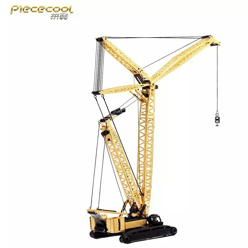 New Piececool Crawler Crane P081-GK Model 3D laser cutting Jigsaw puzzle DIY 3D Metal model Puzzle Toys For Audit and Children