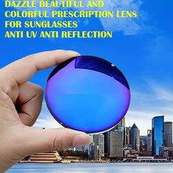 1,67 Index Rezept Sonnenbrille Linsen Dizzle Shiny Mode Sonnenbrille Linsen für Myopie/Hyperopie Anti UVA/UVB Anti Glare