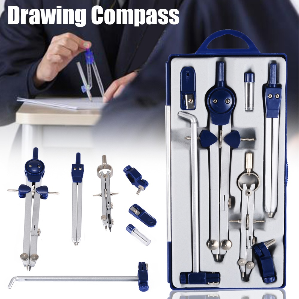Professional Adjustable Precision Drawing Compass Set For School Office Construction Engineering Drafting Stationery Tools
