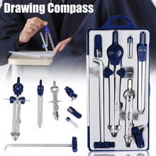 Professional Adjustable Precision Drawing Compass Set for School Office Construction Engineering Drafting Stationery Tools printio лонгслив байкер инженер