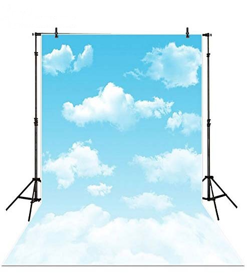 Blue Sky White Clouds photo backdrop Vinyl cloth High quality Computer printed children kids photography studio background