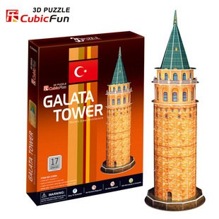 Candice guo CubicFun 3D puzzle DIY toy paper building model children gift Turkey Galata tower world's great architecture C098H series s 3d puzzle paper diy papercraft double decker bus eiffel tower titanic tower bridge empire state building
