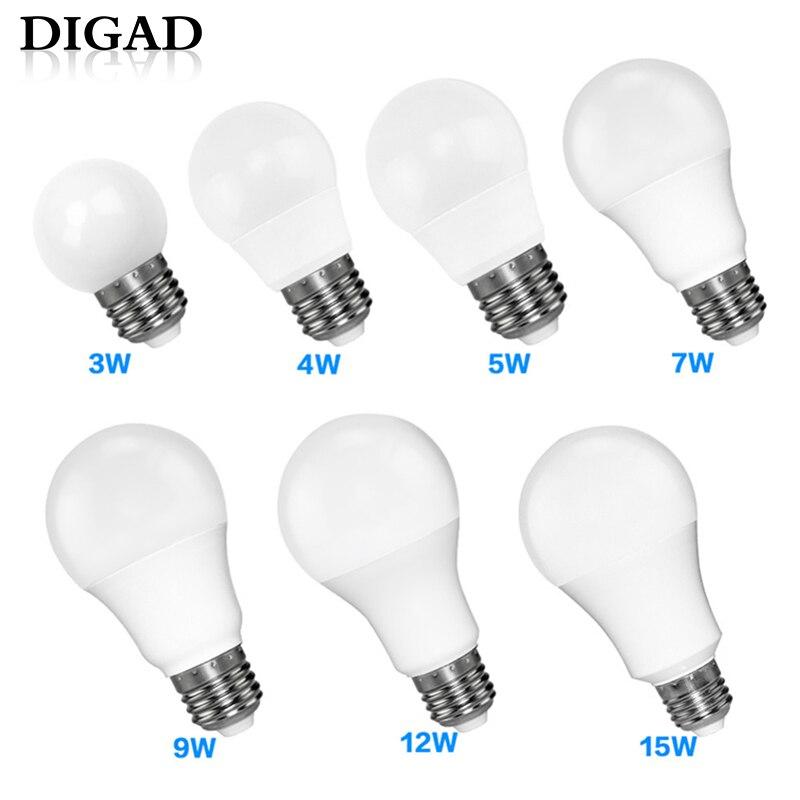 DIGAD LED E14 LED Lamp E27 LED Bulb AC 220V 230V 240V 18W 15W 12W 9W 6W 3W Lampada LED Spotlight Table Lamp Lamps LightDIGAD LED E14 LED Lamp E27 LED Bulb AC 220V 230V 240V 18W 15W 12W 9W 6W 3W Lampada LED Spotlight Table Lamp Lamps Light