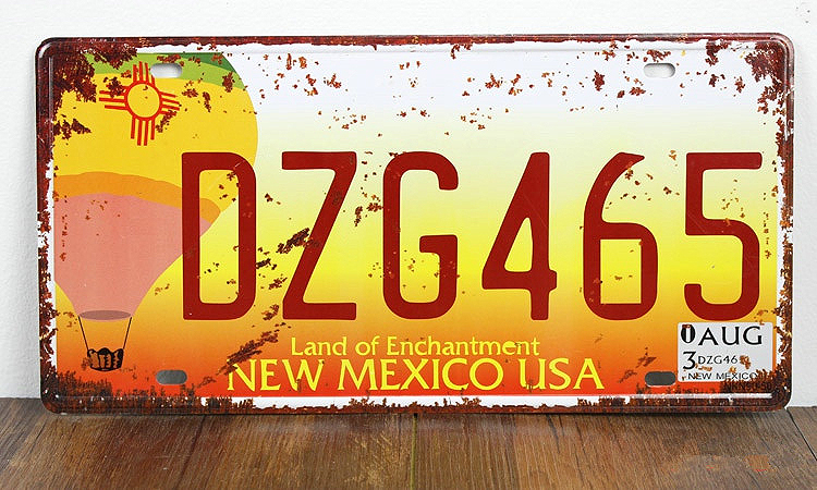 UA-CP-00151 free shipping car number  DZG465  Metal vintage License Plate tin sign cafe pub wall art craft home decor 30*15 CM