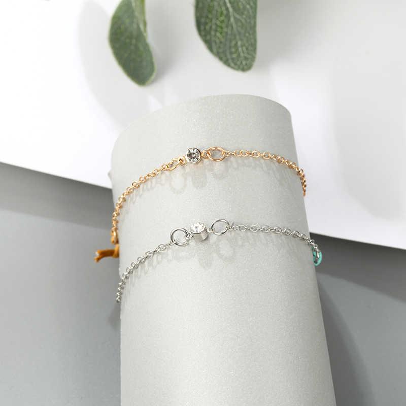 2019 nowa damska bransoletka moda wielowarstwowa regulowana artystyczne złote muszelki koraliki geometryczne metalowe wiszące bransoletka męska prezent Hot