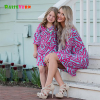 Mommy And Me Family Matching Outfits Mother Daughter Floral Dresses Clothes Mom Girls Kids Parent Children
