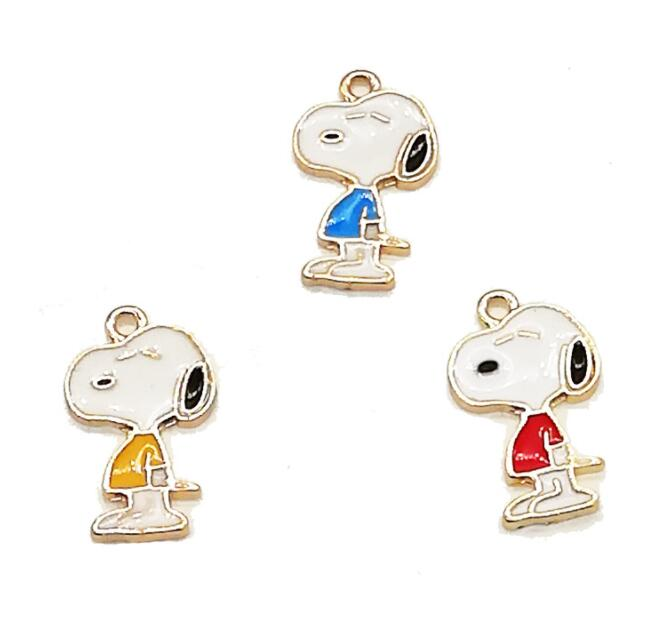 50pcs cartoon Japanese anime dog Enamel Metal Charms Pendants DIY Jewelry Making