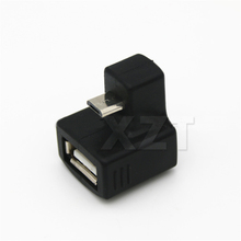 Newest 180 Degree Up Down Right Angled V8 Micro USB OTG to U