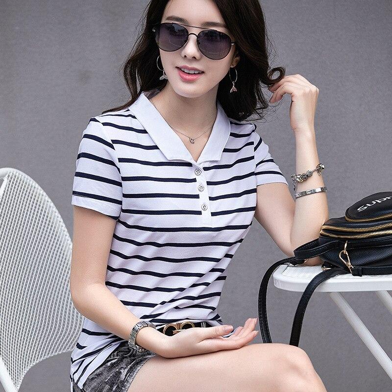 21b70d8b5b28 Camisetas Polo de verano para mujer a la moda con tiras delgadas de manga  corta Modal Turn down Camisa Polo femenina Casual de oficina deportiva para  mujer ...
