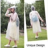 2015 New Transparent EVA Raincoat Women Long Poncho Winter Cycling Rain Coat For Boys Girls Child