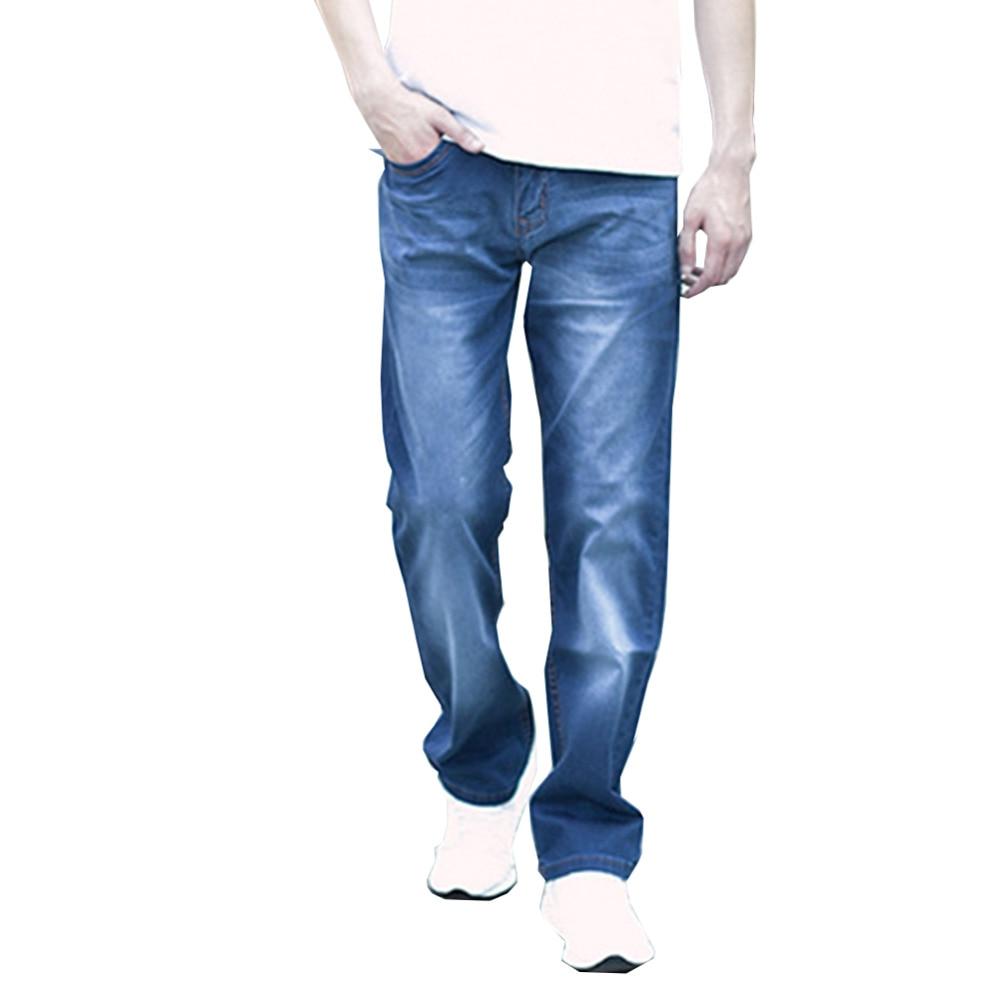 Men Retro Light Washed Loose Straight Leg Regular Fit Denim Pants Casual Work Stretch Jeans Plus Size inc petite new black skinny leg regular fit pants 10p $59 5