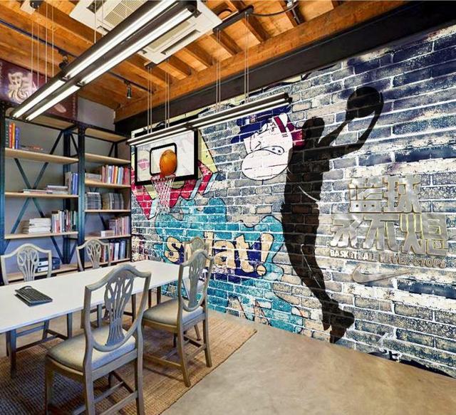 Photo Wallpaper 3d Three Dimensional Sports Wall Painting Mural