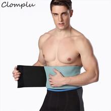 Clomplu New Shpaer Trainers Male Abdominal Binder for Man Neoprene Weight Loss Slimming Belt Men's Adbomen Modeling Strap 93cm цена и фото