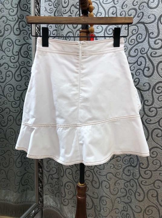 Swing Es Las Una 2018 Blanco Europa Lotus Invierno Los Nuevo Mujeres Borde E Estados Otoño Y Unidos Sólido De Costura Falda Color Palabra qwZSqW7va