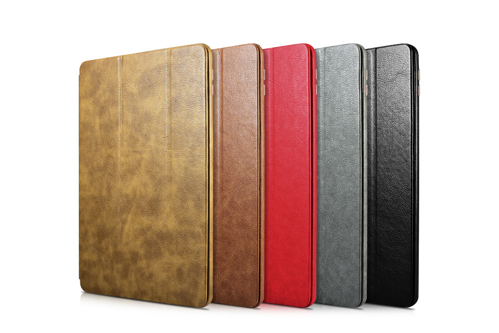 Prix pour Smart Cover Tablet Pliant Folio Case pour Apple iPad Pro 9.7 pouce cas véritable fait à la main en cuir XOOMZ ICARER MARQUE CAPA