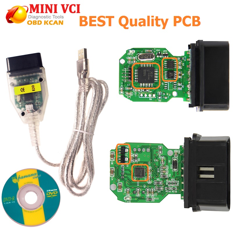 MINI-VCI Latest Version V13.00.022 MINI VCI Interface For TOYOTA TIS Techstream J2534 OBDII OBD2 Diagnostic Cable