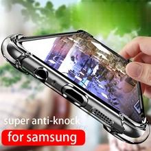 Poduszka powietrzna anti-knock odporny na wstrząsy przezroczysty tpu etui na telefony do samsung galaxy note 9 8 5 4 3 s8 s9 plus s7 s6 krawędzi c9 c8 c7 c5 pro okładka tanie tanio liviace Aneks Skrzynki Airbag anti-knock shockproof clear Transparent soft Galaxy s6 krawędzi Galaxy Note 8 Galaxy C9 Pro