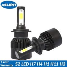 ASLENT 2pcs Auto Bulbs LED H7 H4 H11 H1 H3 9005 9006 9012 9003 HB1 HB2 HB3 HB4 Car Headlights 72w 8400lm 6500K Fog Light 12v