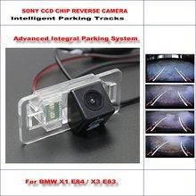 Rear Camera For BMW X1 E84 / X3 E83 Intelligent Parking Tracks Backup Reverse / 580 TV Lines Dynamic Guidance Tragectory