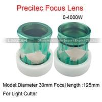 Import Quartz Precitec Focus Lens D30 FL125mm with Mounting 0 4000W Light Cutter for Precitec Fiber Laser Head P0580 1104 00001