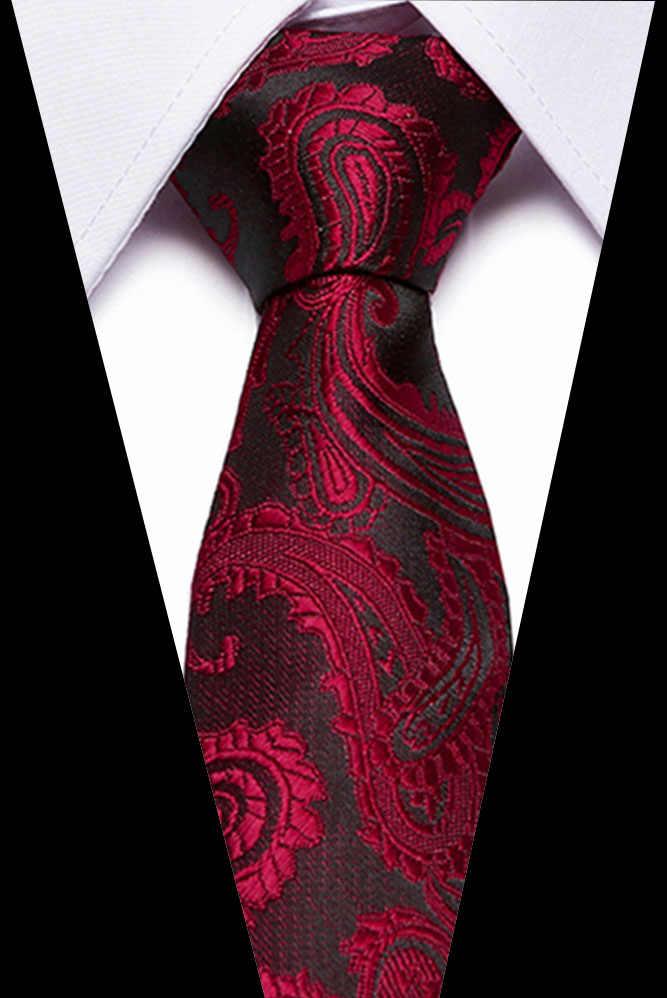 2019 wysokiej jakości mężczyzna Tie solidna Plaid 100% jedwabiu wąski krawat Skinny wąskie krawat gravata krawaty dla mężczyzn formalne wesele