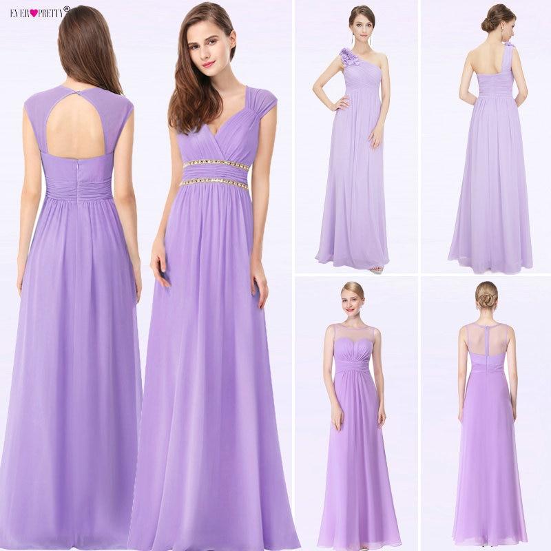 ba199aeb85d 2019 Elegant Long Cheap Lilac Evening Dresses with Lace Appliques Ever  Pretty Purple Women Party Dresses vestido de noiva