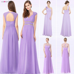 c1e6fbd0a 2019 elegante largo barato Lila vestidos de noche con apliques de encaje  bonito púrpura de las