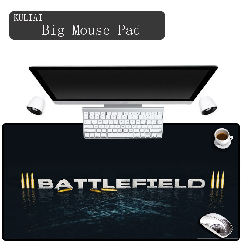 XGZ Personalise Non-Skid Rubber Large Gaming Mouse Pad Battlefield 3 Pattern Mat Desktop PC Computer Laptop Mousepad