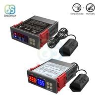 SHT2000 STC-3028 AC 110V 220V DC 12V 24V цифровой регулятор влажности воздуха термостат гигрометр