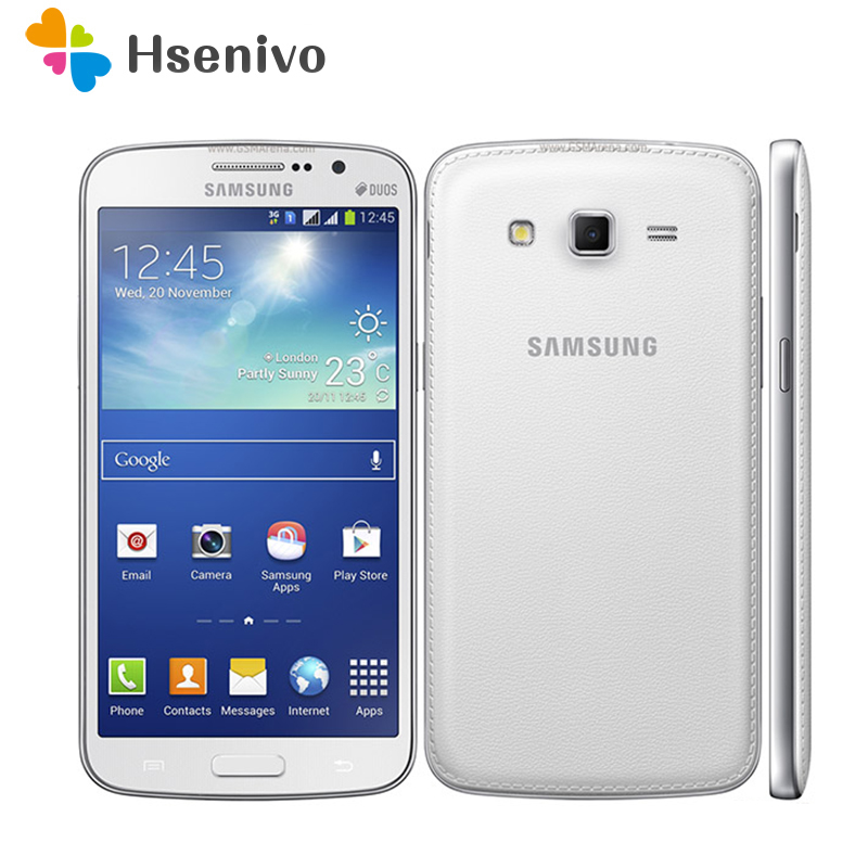 G7102 Original Unlocked Samsung G7102 Grand 2 GPS 8GB ROM 8MP Quad Core Dual SIM Cards Refurbished Smartphone Free Shipping image