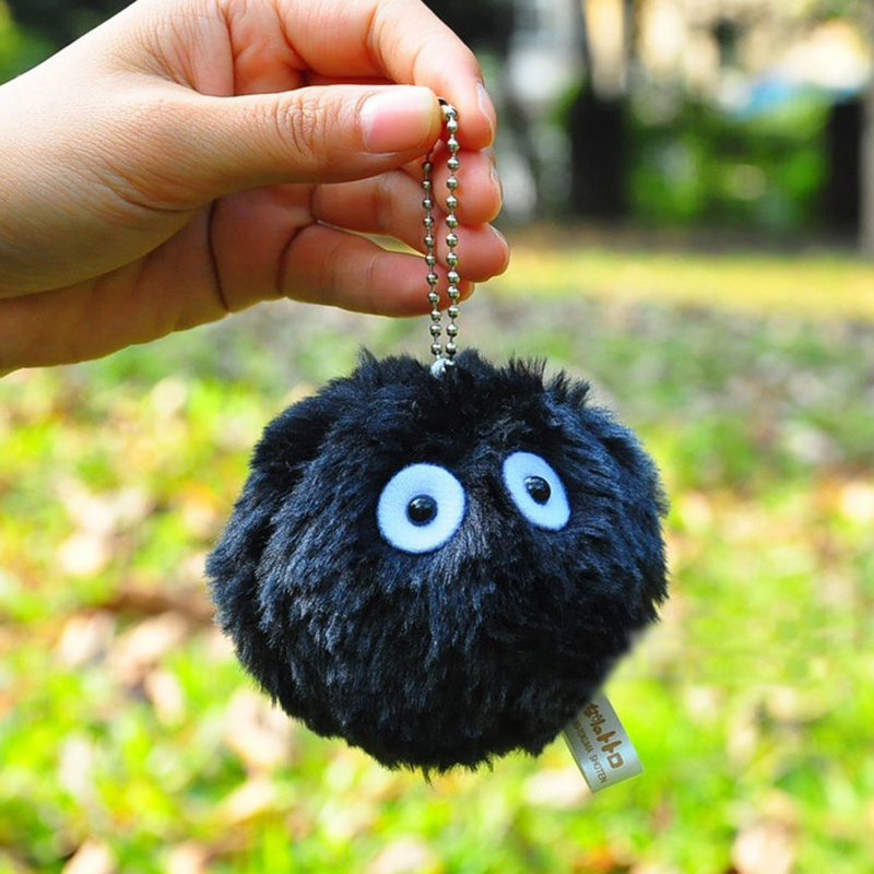 Mini Totoro Plush Black Briquettes Plush Dolls Kids Baby Kawaii Toy