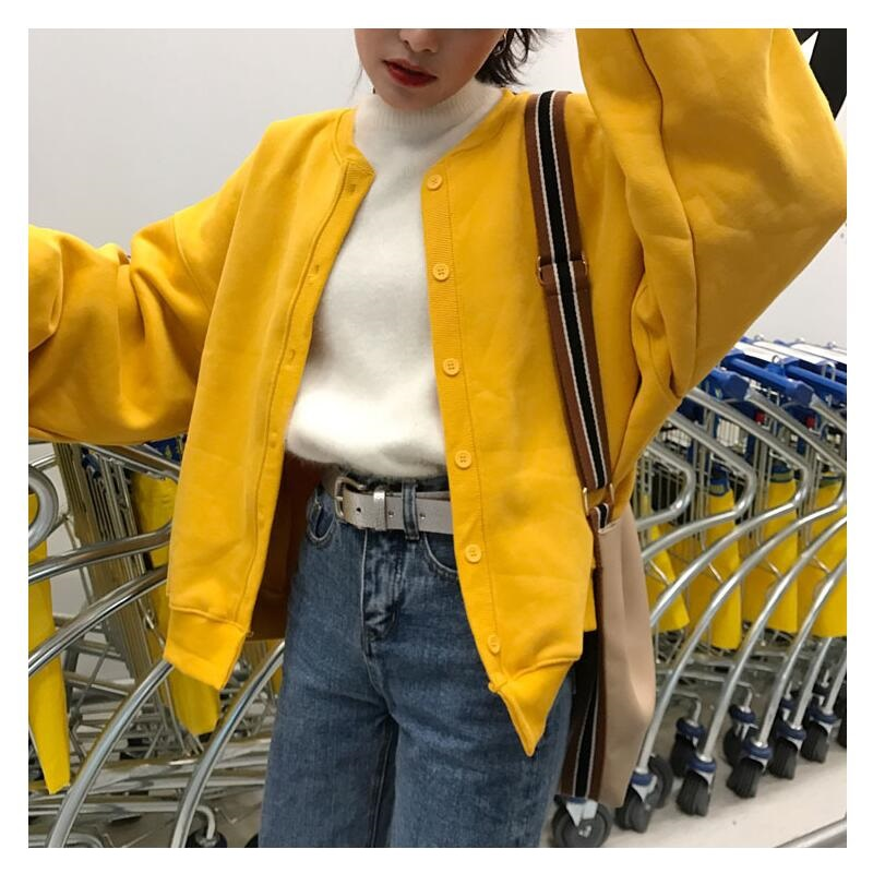 Women red long sleeve retro baseball Cardigan Jacket Rock motorcyle Coat lantern sleeve punk bomber multicolor loose streetwear