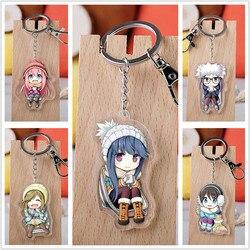 Anime Yuru Camp fille camping Aoi ENA Acrylique Keychain Porte-clés sangle de 5 options