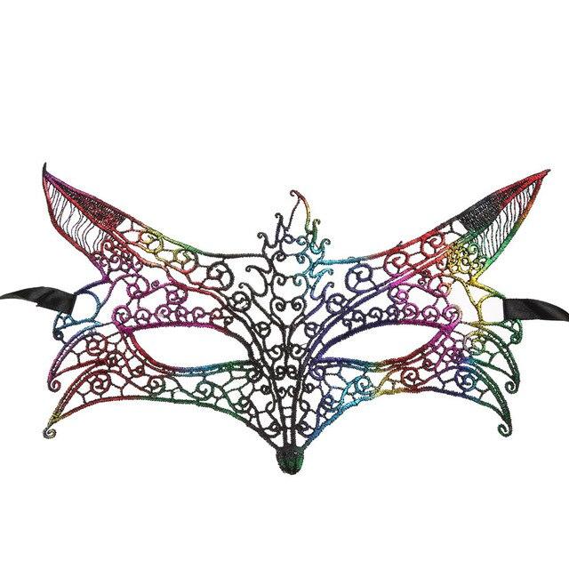 Trucco Halloween Catwoman.Us 1 09 32 Di Sconto 2017 Hot Masquerade Lace Maschera Catwoman Halloween Trucco Sfera Principessa Occhiali Divertimento Volpe Misteriosa Maschera