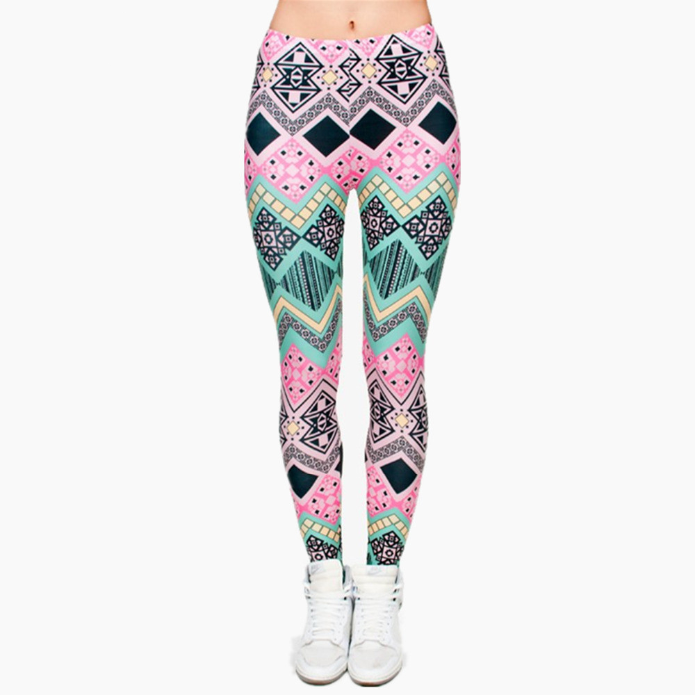 Brand New Fashion Aztec Printing Legins Punk Women's Legging Stretchy Trousers Casual Slim Fit Pants Leggings
