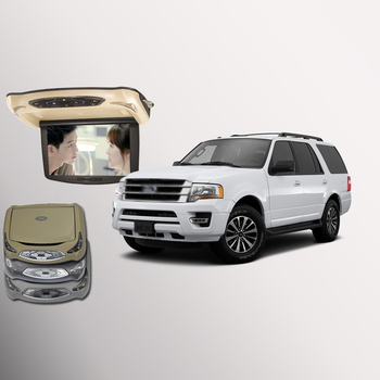 BigBigRoad For Ford Expedition Car Roof Mounted in car LED Digital Screen Support HDMI USB FM TV IR Ceiling display DVD image