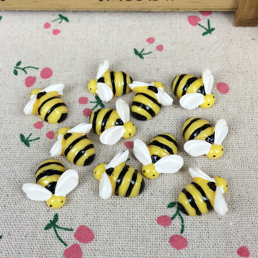 10 Pieces Flat Back Resin Cabochon Animal Bee Diy Flatback Scrapbooking Accessories