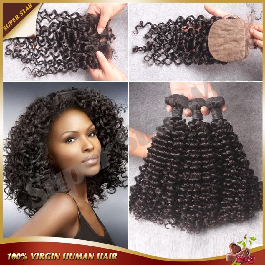 ФОТО 7A Brazilian Deep Curly With Silk Base Closure Virgin Human Hair Silk Base Closure With 3 Bundles With Silk Closure And Bundles