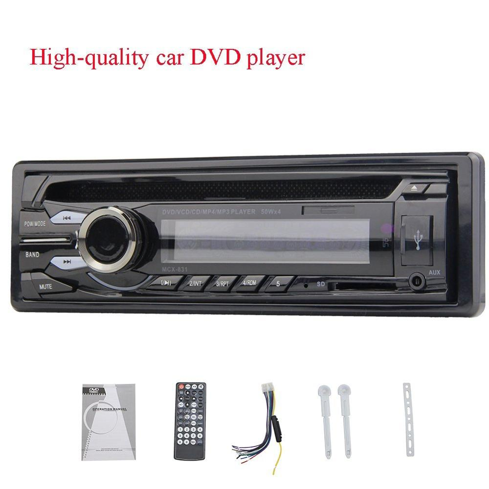 1din car headunit fix panel Car Stereo 1 din CD DVD Player USB SD FM Aux-in car Radio player MP3 single din In dash car usb sd aux adapter digital music changer mp3 converter for skoda octavia 2007 2011 fits select oem radios