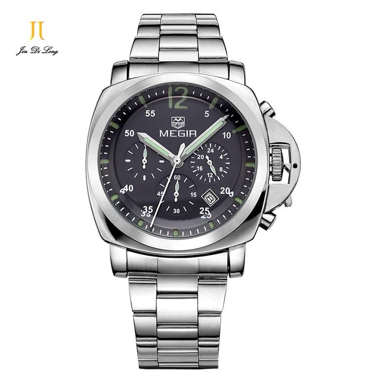 ФОТО 2016 Famous Brand Quartz Watch Men Fashion 3 Dials Sports Watch Casual Leather Wristwatch for Men Relogio Masculino Clock