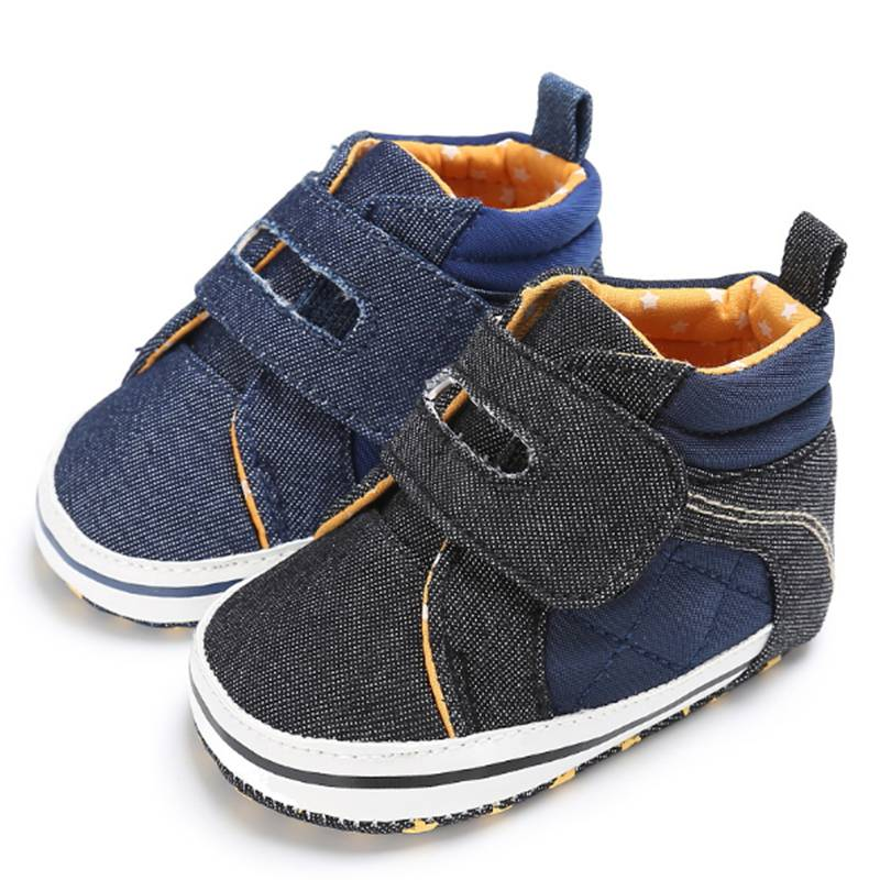 Toddler Denim Blue Black Boy Baby Sneakers Newborn Prince ...