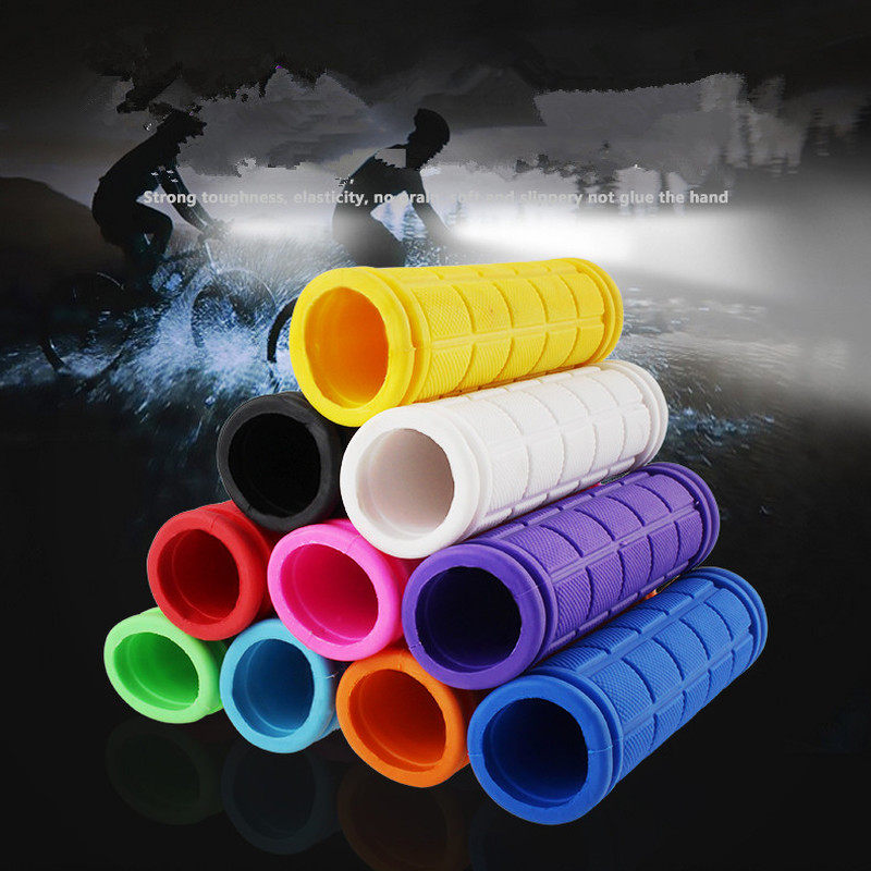 1 Pair Bike Bicycle Cycling Rubber Handlebar Grips Fixie Fixed Gear 8 Colors